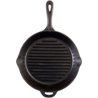 Camp Chef Cast Iron Pfanne mit Riffelboden 30 cm mit flammo Spray
